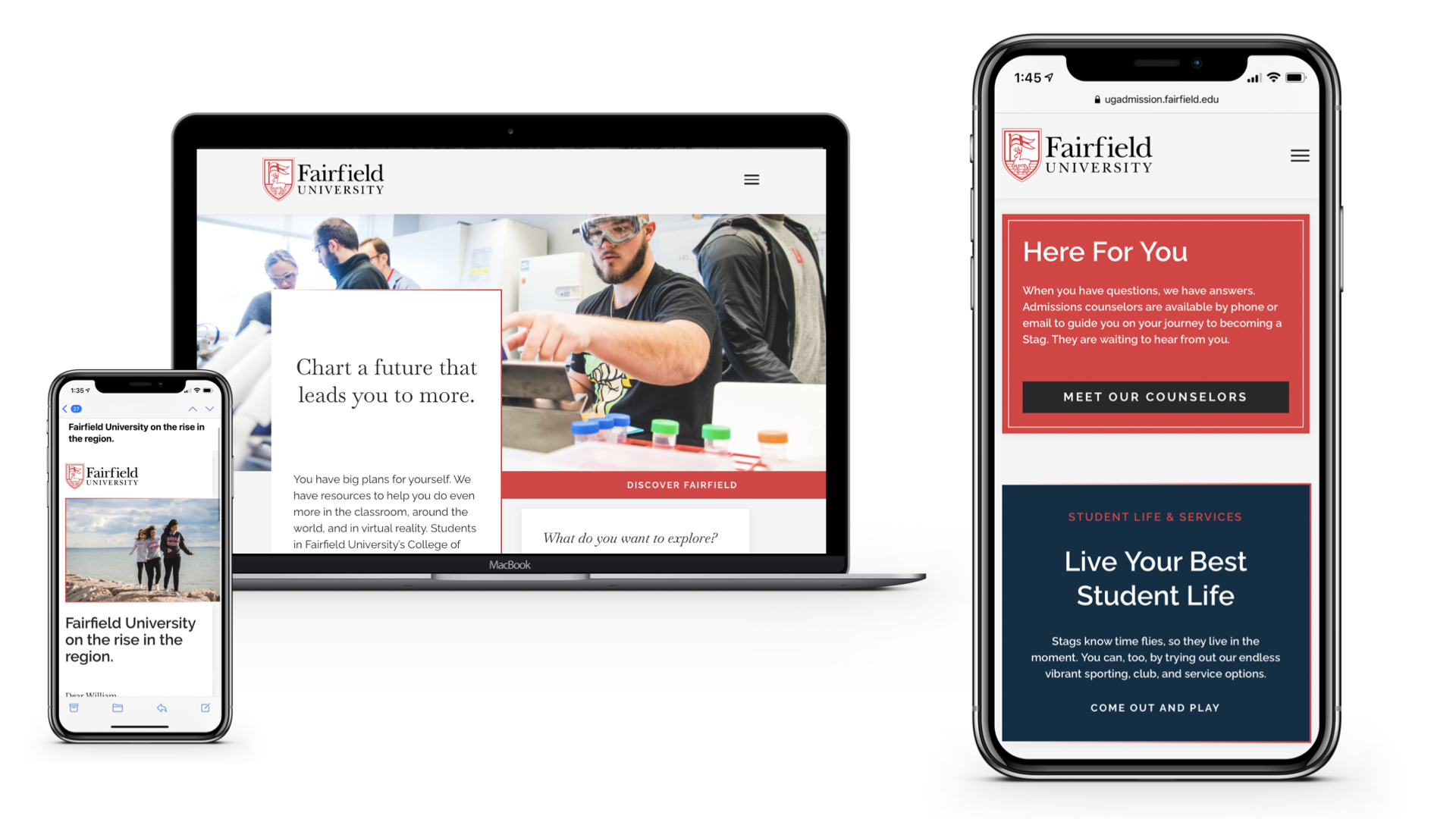 This is an image of Fairfield Universities email and portals in Slate.